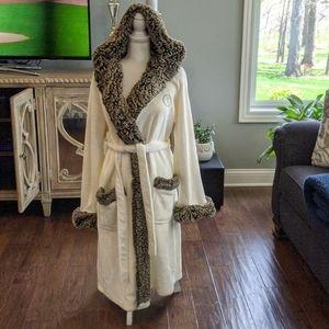 """Pottery Barn full length robe. Monogrammed """"T"""""""